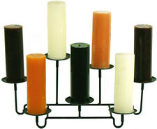 Amish Wrought Iron Fireplace 7 Pillar Candle Holder Made in the USA