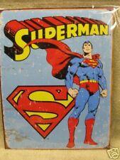 Vintage looking Superman Tin Metal Sign D.C. Comics NEW Super Hero
