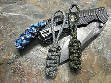 3 PACK STUBBIES 550 PARACORD KNIFE LANYARD IN POCKET PULL AMERICAN MADE