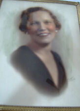 Vintage Woman's Blurred Professional Studio Picture Framed Photo