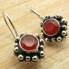 Well Made Expensive-Looking Earrings !! 925 Silver Plated Red CARNELIAN Jewelry