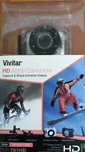 Vivitar HD Action Waterproof Camera Camcorder DVR781HD Make a splash BLUE