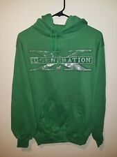 Vintage 90s D Generation X WWF Wrestling Hoodie Medium Kelly Green Triple H RARE