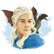 Daenerys Targaryen Game of Thrones Sticker, Car, Laptop, Phone, Wall Art Decal