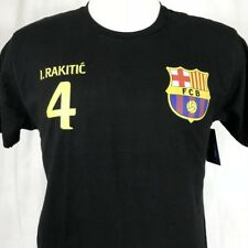 FCB Barcelona #4 Rakitic Soccer Mens Medium T-Shirt Black Football Futbol Barca