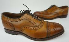 Allen Edmonds Strand Cap Toe Oxford Walnut Brown Leather Shoes Size 8.5 3E & E