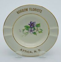 Roggow Florist Attica, N. Y. Ashtray