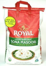 Royal Sona Masoori ORGANIC Medium Grain white Rice 20lb