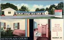 PROSPECT, Kentucky  KY   Roadside  AUTO PLAZA COURT  1948 Linen   Postcard*