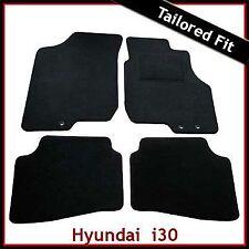 Hyundai i30 Mk1 2007 - 2012 3-clips Tailored Fitted Carpet Car Mats BLACK