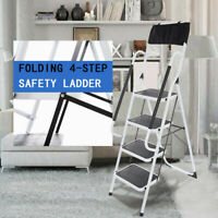 Folding Portable 4-step Safety Ladder Household Tool Bag Home Folding Ladder USA