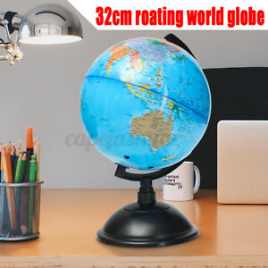 360°Rotating World Globe Earth Map with Stand Geography Education Kids Gift 20cm
