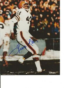 LEROY KELLY-CLEVELAND BROWNS-HOF-COLOR Signed Photo 8x10-COA