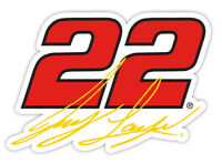 NASCAR Driver Number Decal-Joey Logano #22 Die Cut Sticker