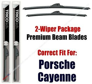 Wipers 2-Pack Premium Beam Wiper Blades - fit 2019+ Porsche Cayenne - 19260/220