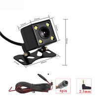 4Pin Car Rear View Reverse Parking Camera Night Sight 4LED Lamp 2.5mm Jack Port