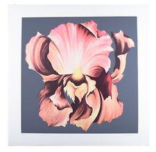 """Pink Iris on Grey Background"" by Lowell Nesbitt Signed Silkscreen LE 175 w/ CoA"