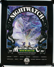 Beer Sign Maritme Pacific Nightwatch Graveyard Shift Tall Wood Ship Pirate Boat