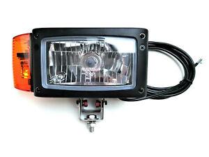 Rechts H4 Scheinwerfer mit Blinker Omegahalter 24V für Radlader Bagger JCB Merlo