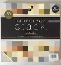 """DCWV Cardstock 12""""x12"""" Single-Sided Textured Cardstock Stack 58pcs"""