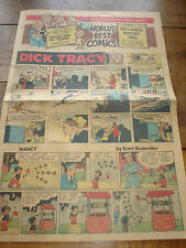 1956 Sunday Funnies Newspaper Comic Section 8 Pages:Dick Tracy,Joe Palooka+20.