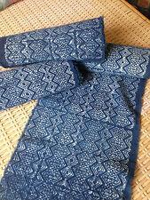 Vintage Hmong hand weaved Style Batik Cotton Fabric Indigo Craft Textile