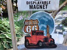 Large Route 66 American Highway Flexible Displayable Fridge Car Magnet w/Vtg Car