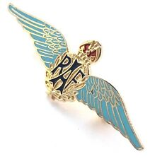 Mod Approved RAF Royal Air Force Sweetheart Wings Blue Enamelled Brooch Badge