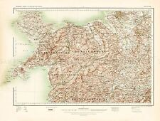 MAP ANTIQUE 1902 OS UK ANGLESEY NORTH WALES LARGE REPLICA POSTER PRINT PAM0395