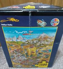 Heye 1500 piece jigsaw puzzle titled 'Rallye Italia' in excellent condition