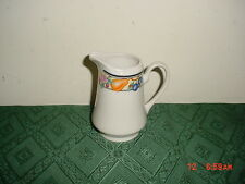 "ONEIDA GENUINE STONEWARE ""ORCHARD"" 4 3/4"" CREAMER/FRUIT-COLORS/STAMPED/CLEARANCE"
