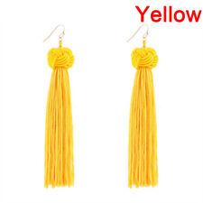 Women Bohemian Fringe Boho Long Tassel Hook Drop Dangle Earrings Jewelry 3c Red