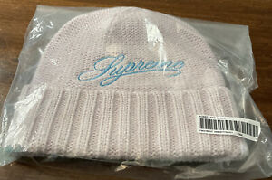 SUPREME SCRIPT LOGO BEANIE PINK OS (FW21 WEEK 2) AUTHENTIC/ BRAND NEW/ (IN HAND