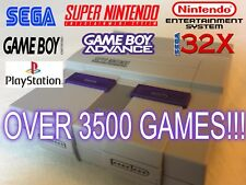 Modded Nintendo SNES Classic Edition 32GB 3500+ Games Playstation1 Sega & More!