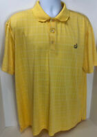 The Masters Colle Polo Mens Size XL Yellow Golf Casual Shirt Short Sleeve