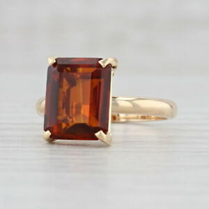 Maderia Citrine Ring 14k Yellow Gold Size 7.25 Solitaire November Birthstone