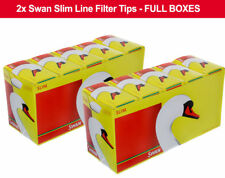 20 Packs x 165 Swan Slim line Filter Tips Slimline 3300 Loose Full Box