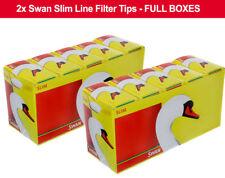 20 Packs X 165 Swan Slim Line Filter Tips Slimline 3300 Filter Loose FREEPOST