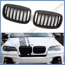 For 09-13 BMW E71 X6 SUV Sporty Wide Eyebrow Type Matte Black Front Hood Grille