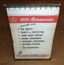 1954 Chevrolet car & truck dealer showroom A-Frame accessory album belair pickup