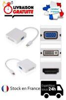 CABLE ADAPTATEUR CONVERTISSEUR MINI DP DISPLAYPORT / VGA DVI-I 24+5 HDMI MACBOOK