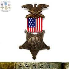 #A6533 U.S. CIVIL WAR GRAND ARMY OF THE REPUBLIC BADGE MEDAL NUMBERED G.A.R.