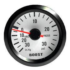 """Car Motor Vehicle Black Face 2"""" 52mm Pointer Boost Gauges Psi In.Hg Meter W8"""