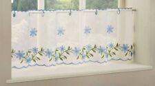 Rideaux et cantonnières panneaux bleu pour la chambre
