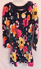 NWT Gymboree girls Navy Blue Flowered Winter Long Sleeves Dress Size 6T