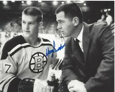 BOSTON BRUINS HARRY SINDEN HAND SIGNED 8x10 PHOTO A w/COA STANLEY CUP CHAMPION