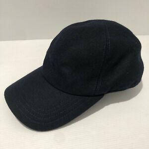 BNWT Holland and Holland dark navy blue wool baseball cap hat size L RRP £90