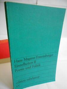 Enzensberger, Poesie und Politik. Essays, u.a. Fall Pablo Neruda