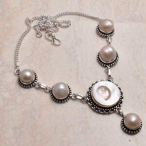 Biwa Pearl Pearl Ethnic Handmade Necklace Jewelry 30 Gms AN 65424