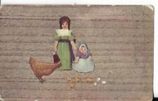 Easter Themed Postcard Early Undivided Back 1907 Children With Chicks